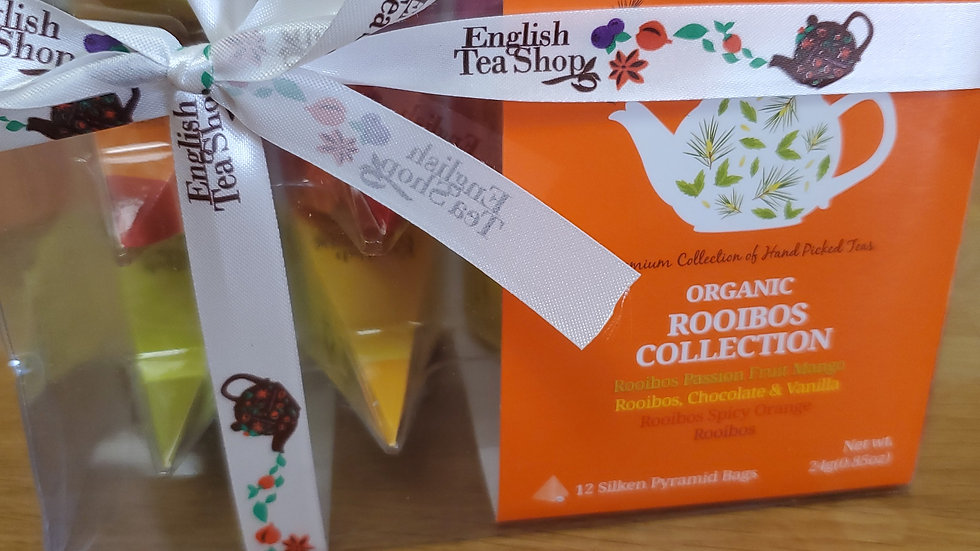 English Tea Shop Organic Rooibos Tea Collection Pyramid Bags