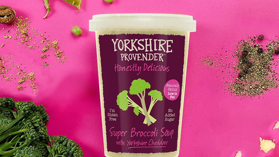 Yorkshire Provender Fresh Soup Super Broccoli with Yorkshire Cheddar 600g