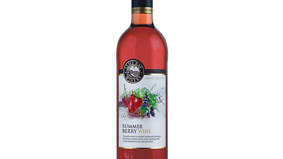 Lyme Bay Winery Summer Berry Wine 11% vol 75cl