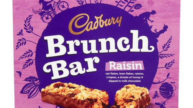 Cadbury Brunch Bar Raisin Multipack 6pk