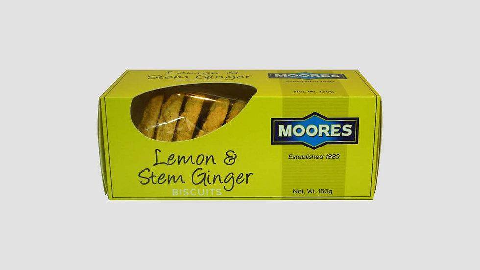 Moores Lemon & Stem Ginger Biscuits 150g