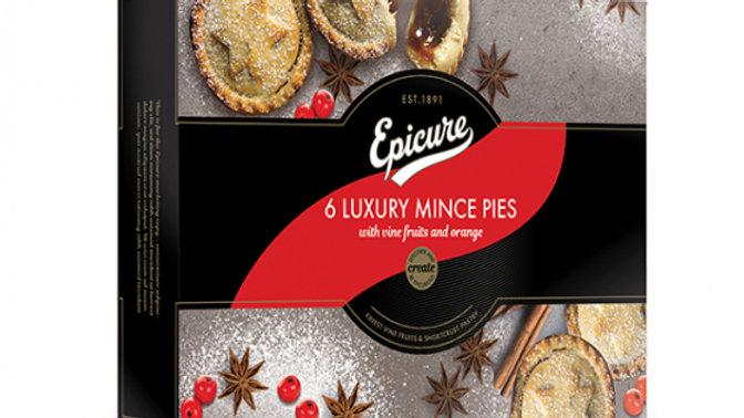 Epicure Luxury Mince Pies (6) 350g