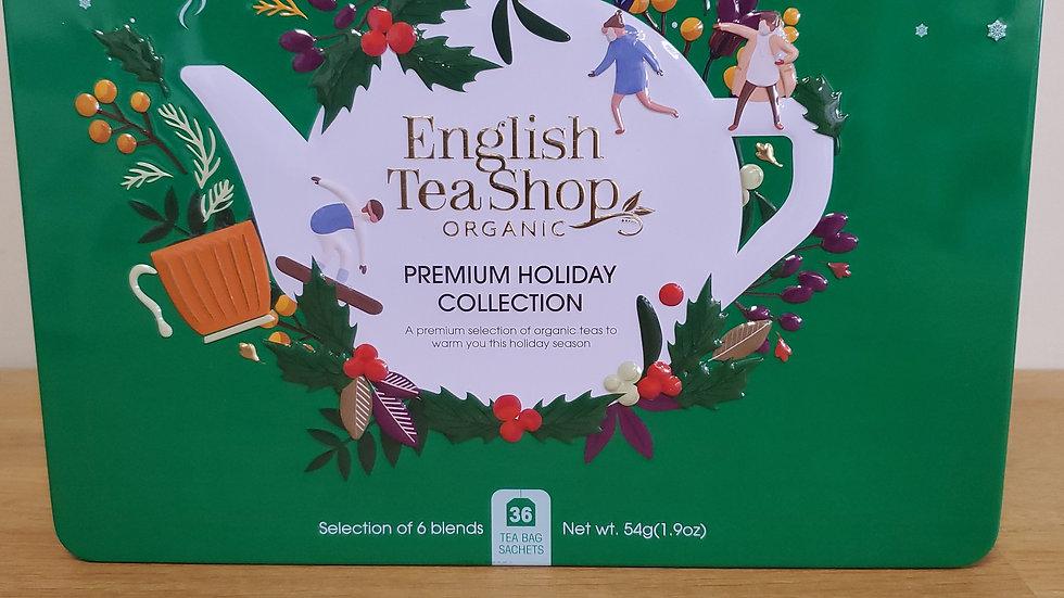 English Tea Shop Organic Premium Holiday Collection Gift Tin Green