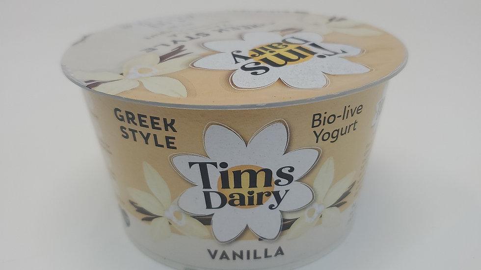 Tims Dairy Greek Style Vanilla Bio-Live Yogurt 175g