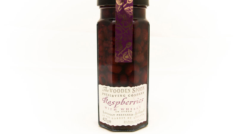 Wooden Spoon Raspberries with Rum 475g