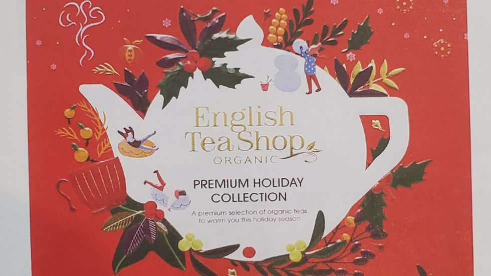 English Tea Shop Organic Premium Holiday Collection Red Gift Tin