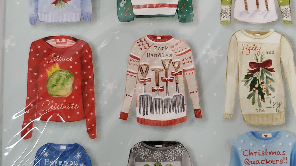 Almanac Gallery Charity Christmas Cards 8 Pack - Christmas Jumpers