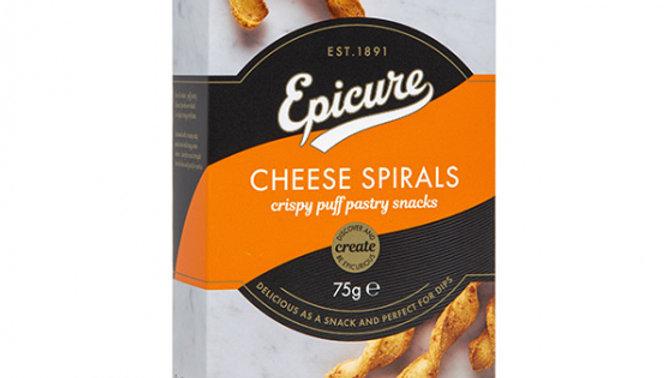 Epicure Cheese Spirals 75g