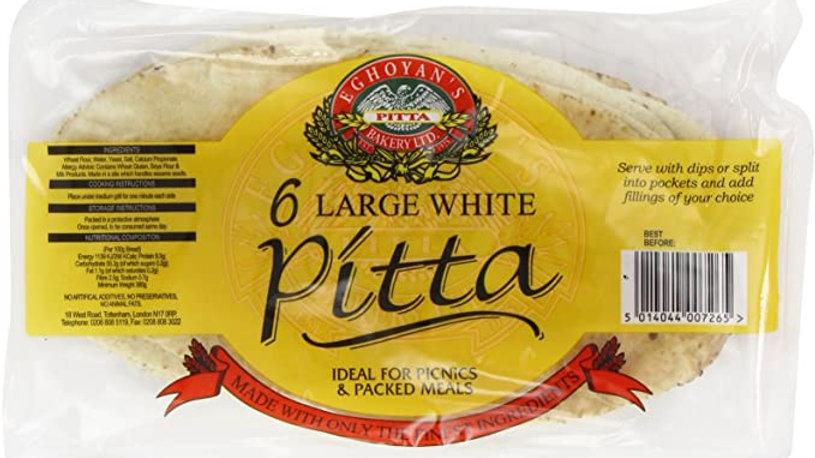 Egohoyans Large White Pitta Bread (6)