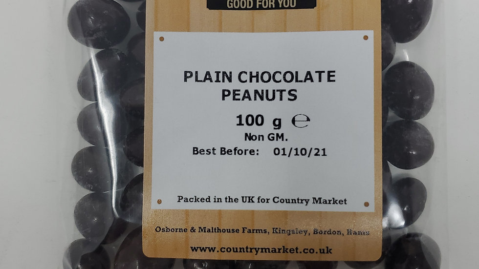 Country Market Plain Chocolate Covered Peanuts 100g