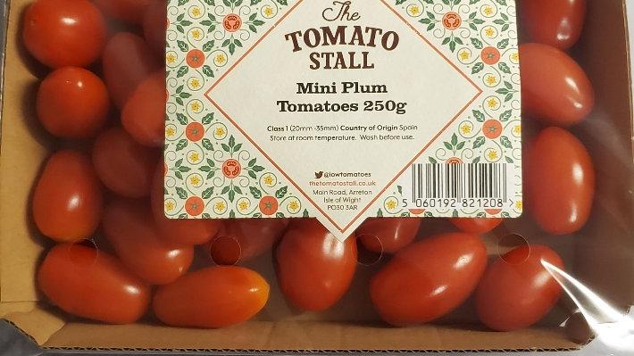 Tomato Stall Mini Plum Tomatoes (pack)