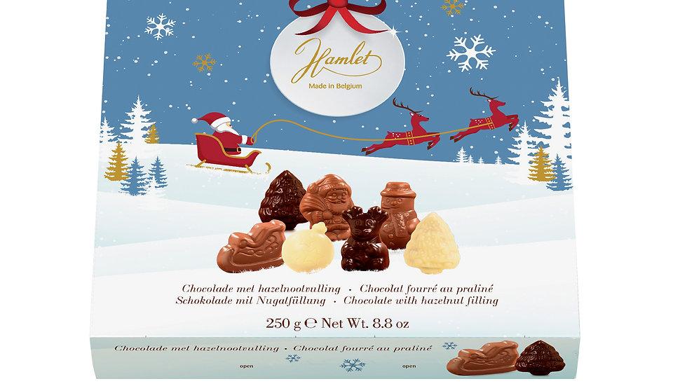 Hamlet Belgium Chocolate Winter Assortment Figures with Hazelnut Filling 250g