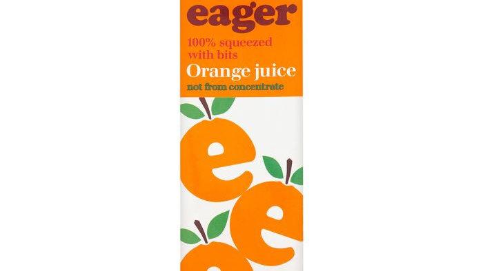 Eager Orange Juice with bits 1lt