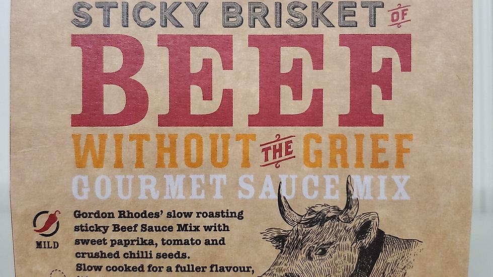 GR Gordon Rhodes Sticky Brisket of Beef Sauce Mix 75g