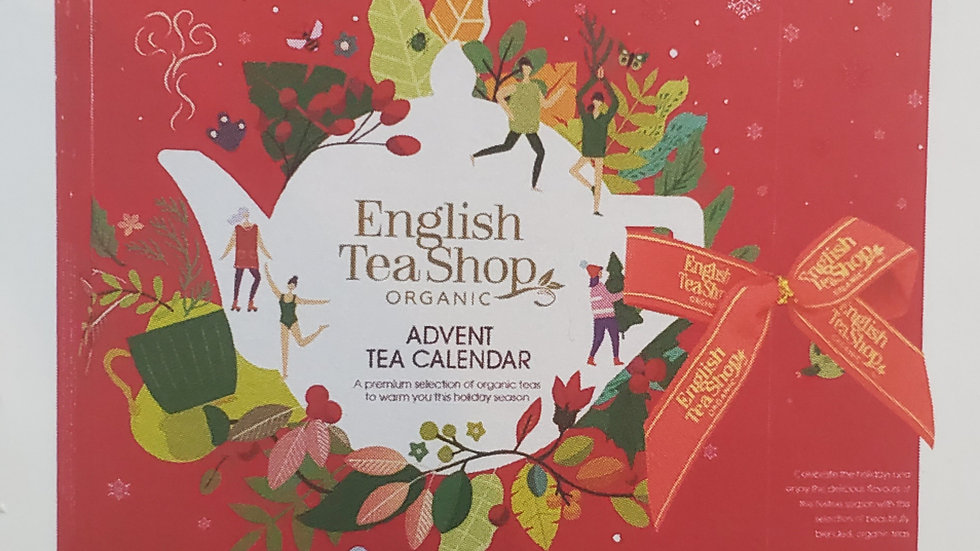 English Tea Shop Organic Book Style Advent Calendar Red