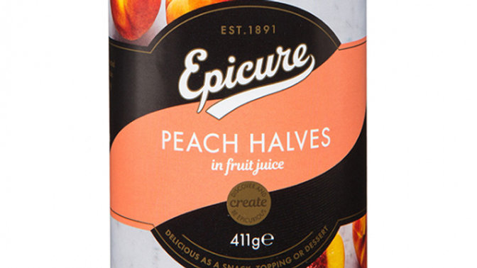 Epicure Peach Halves in Fruit Juice 411g