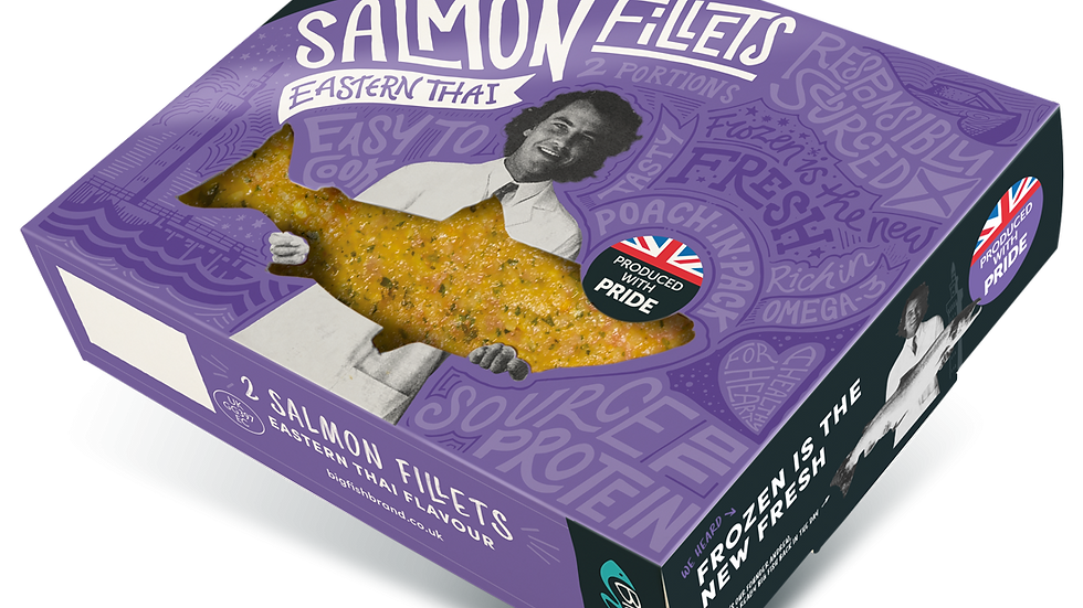 Big Fish Salmon Fillets marinated with Eastern Thai flavour  (2 portions) 250g