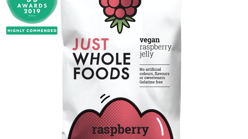 Just Wholefoods Vegan Raspberry Jelly Crystals 85g