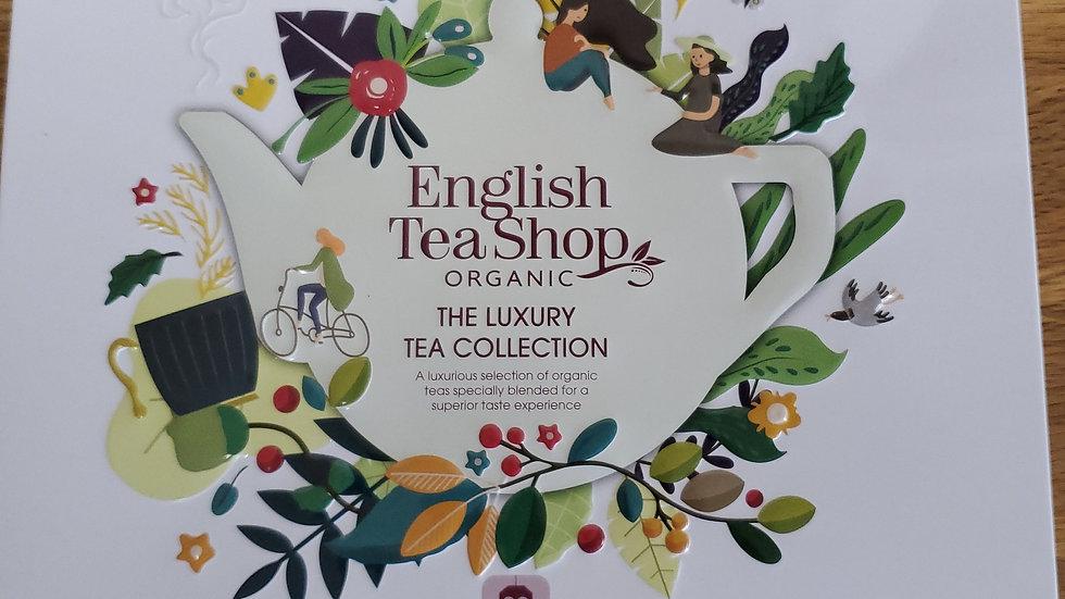 English Tea Shop Organic Luxury Tea Collection Gift Tin White