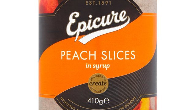Epicure Peach Slices in Syrup 411g