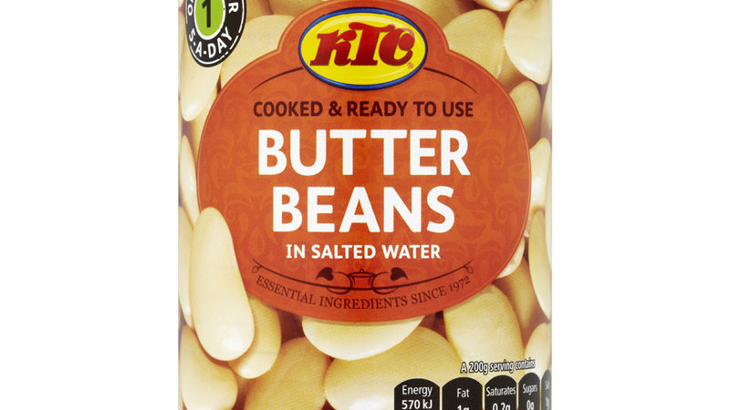 KTC (Sea Isle) Butter Beans in Salted Water 400g