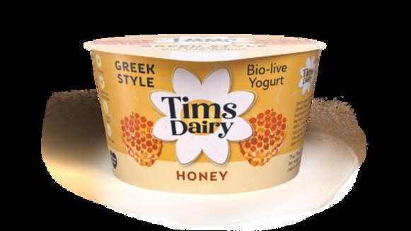 Tims Dairy Greek Style with Honey Bio-Live Yogurt 175g