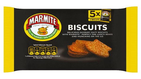 Fudges Marmite Flavoured Biscuits 120g