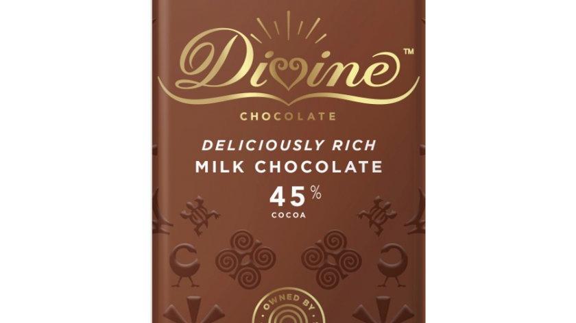 Divine Chocolate Milk 45% Cocoa 90g
