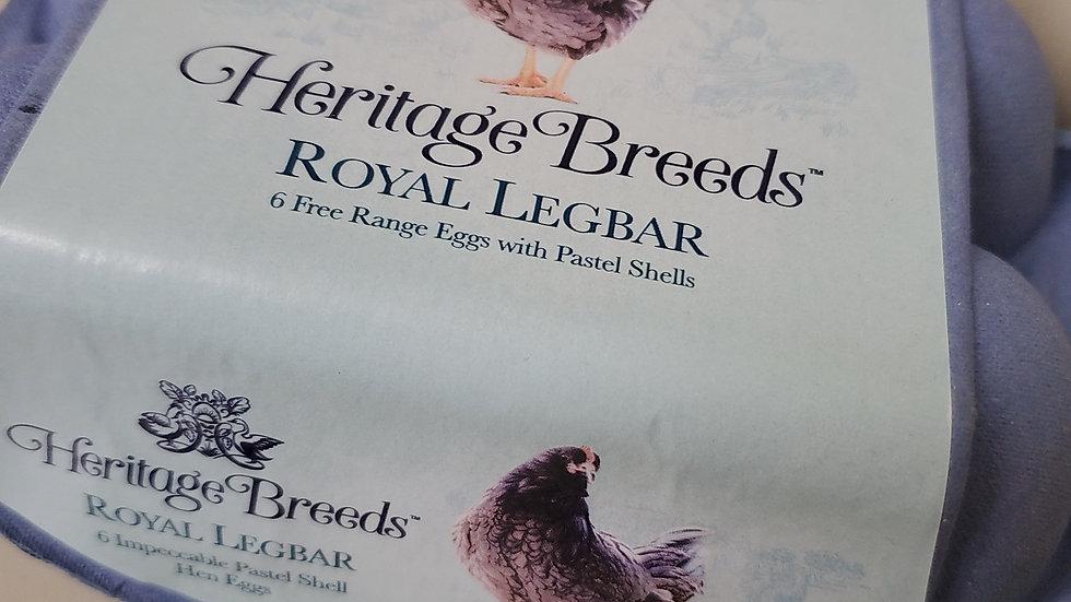 Heritage Breeds Royal Legbar 6 Free Range Eggs