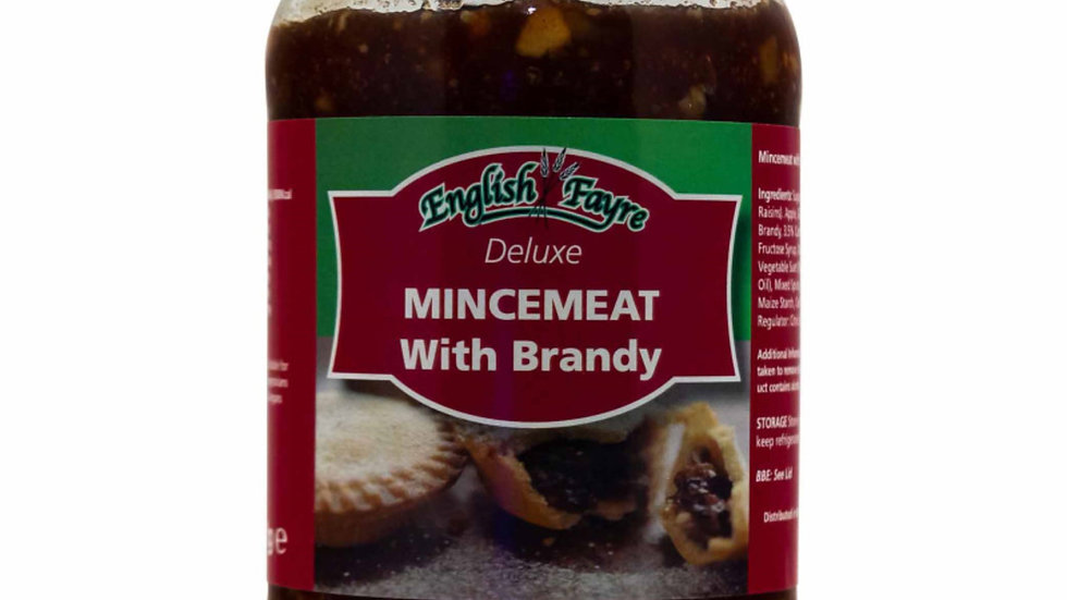 English Fayre Deluxe Mincemeat with Brandy 411g