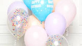 "Pastel Happy Birthday DIY Latex Balloon Kits 11""/27cm 10 Pack"