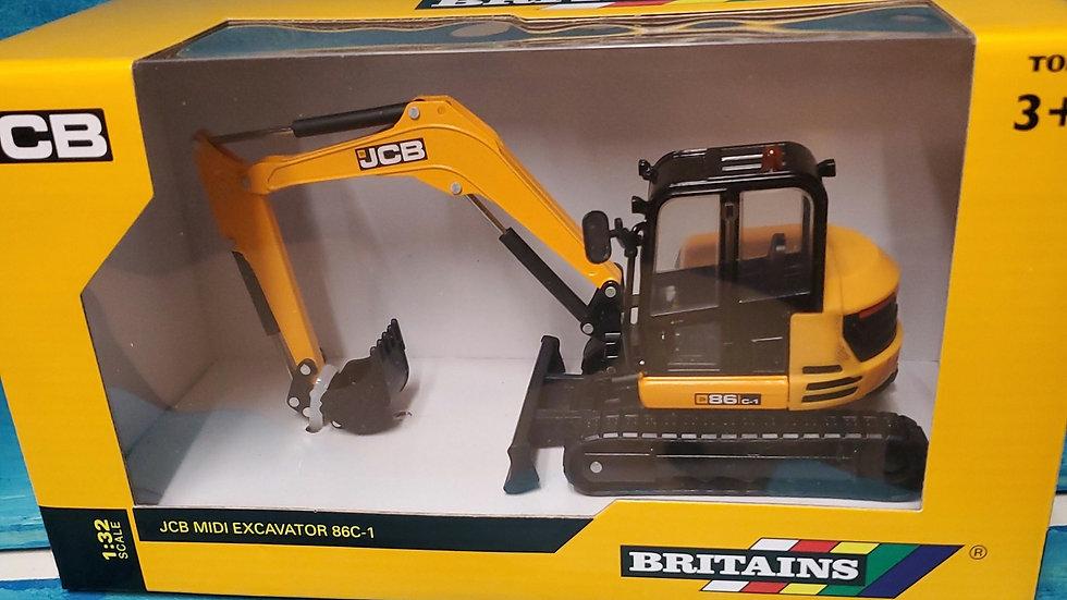Tomy Britains JCB Midi Excavator 86C-1 1:32 Scale