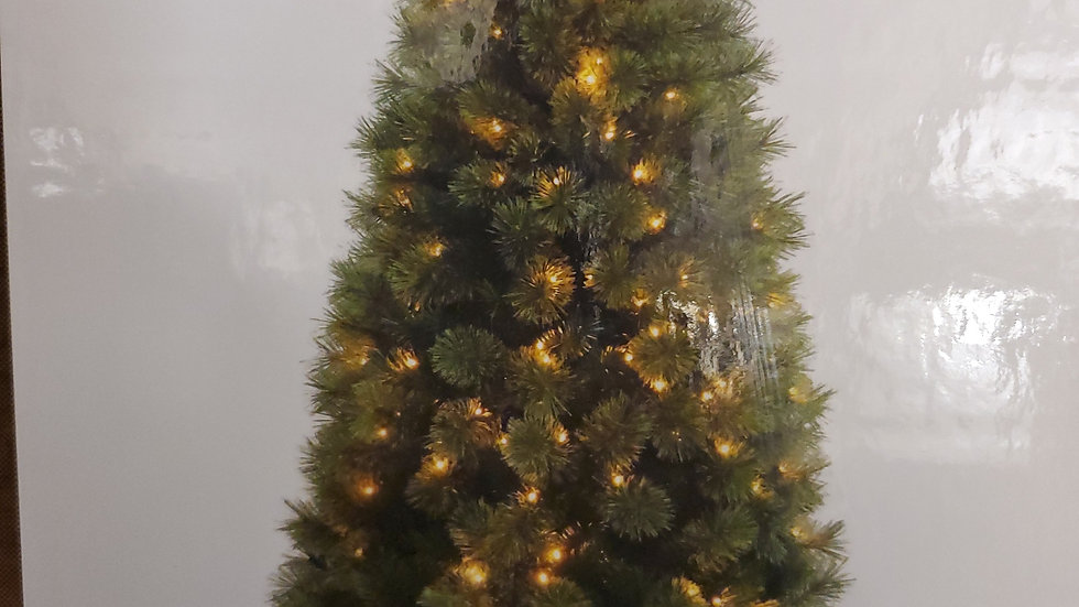 Noma 6ft Sandringham Pine pre-lit artificial Christmas Tree 348 warm white leds.