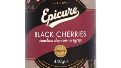 Epicure Stoneless Black Cherries in Syrup 440g