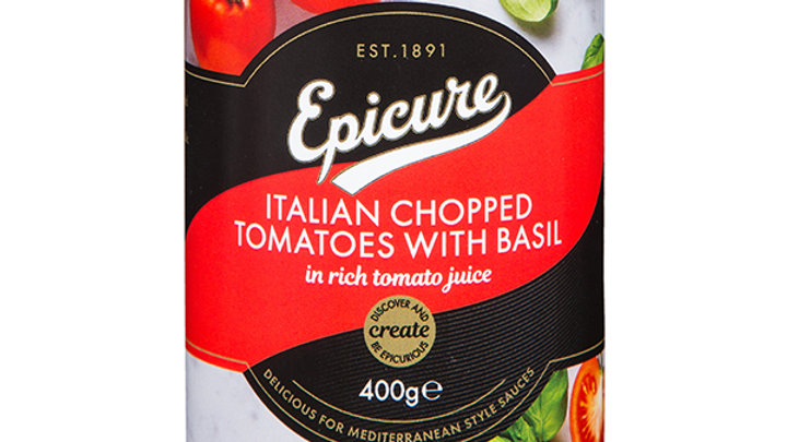 Epicure Chopped Tomatoes with Basil 400g
