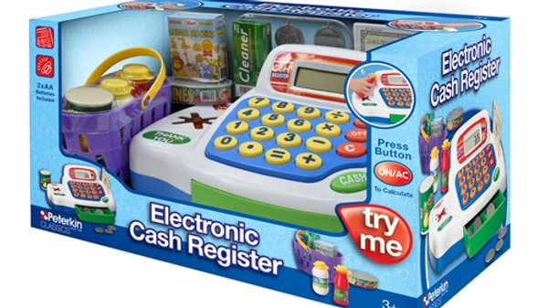 Peterkin Toy Electronic Cash Register Blue
