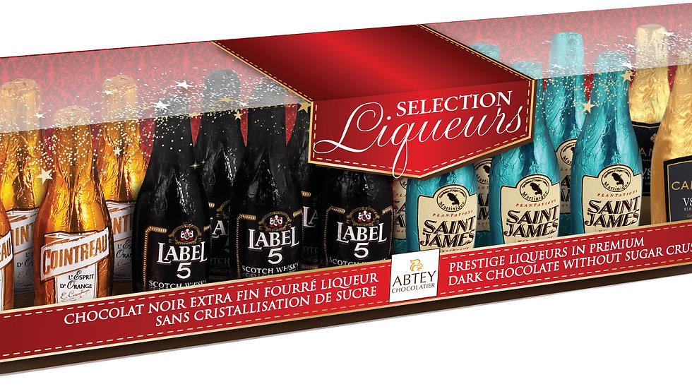 Abtey Liqueur Long Selection Box Miniature Bottles 245g