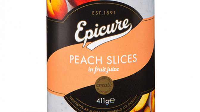 Epicure Peach Slices in Fruit Juice 411g