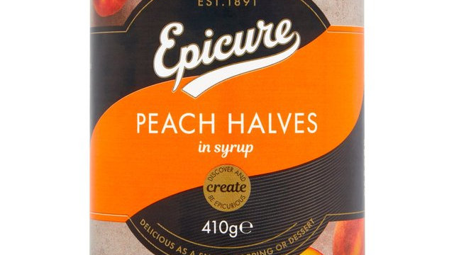 Epicure Peach Halves in Syrup 411g