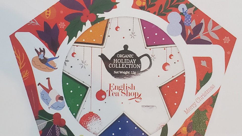 English Tea Shop Organic Holiday Collection Red & Silver Star Gift Pack
