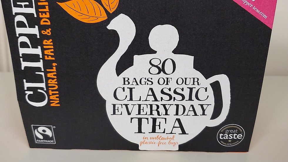Clipper Fairtrade Everyday Tea (80s)