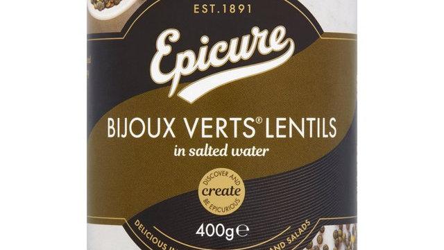 Epicure Bijoux Verts Lentils in Salted Water 400g