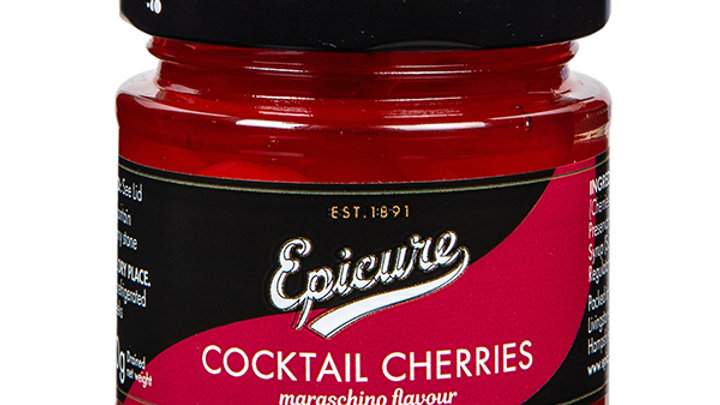 Epicure Cocktail Cherries 130g