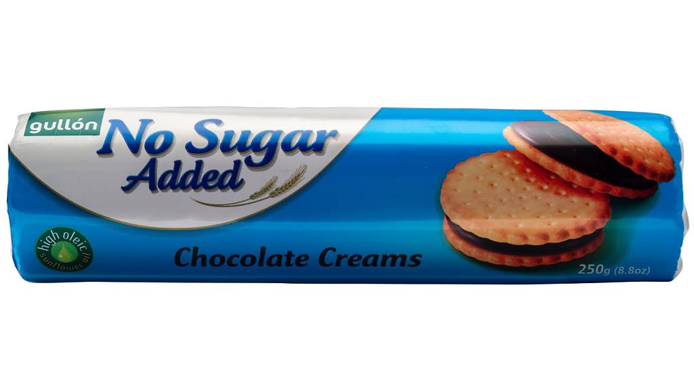 Gullon No Sugar Added Chocolate Creams 250g