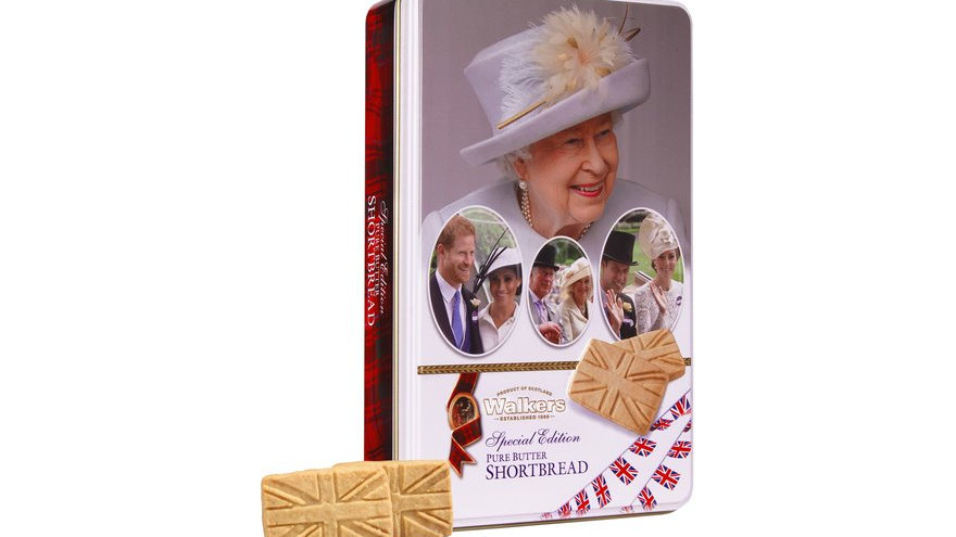 Walkers Pure Butter Shortbread Tin -  Royal Family 250g