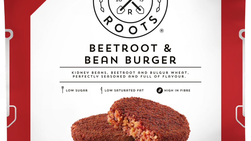 Strong Roots Beetroot & Bean Burger 450g