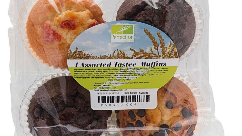 Perfection Assorted Tastee Muffins 4 Pack