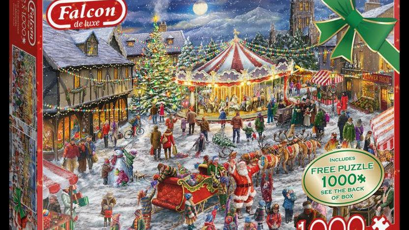 """Falcon de luxe Jigsaw Puzzle """"Christmas Carousel"""" 2x1000 piece"""