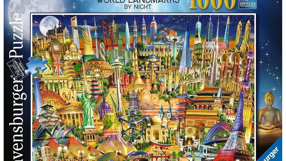 Ravensburger Jigsaw Puzzle 1000 Piece - World Landmarks By Night