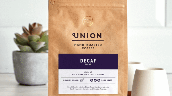 Union Coffee Ground Coffee Decaffeinated Blend 200g